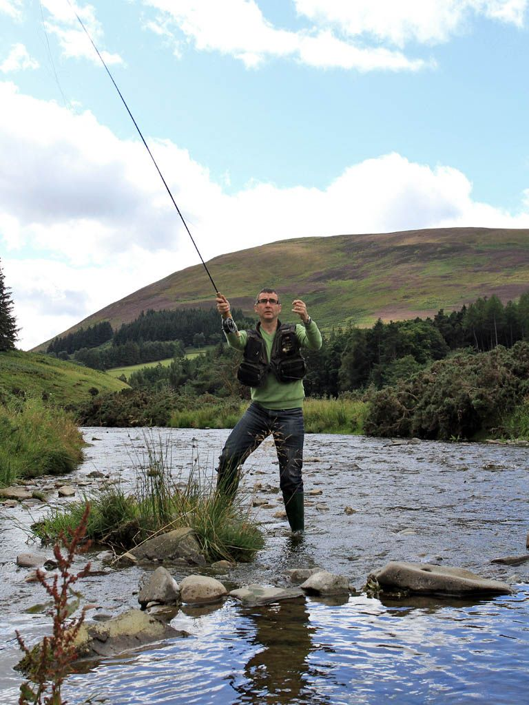 Stream fishing on the Borders, Scotland. Scotland has been blessed with more deer, grouse, salmon and trout than most small European countries, and the Borders area enjoys a reputation for world-class fishing, with the River Tweed, one of Scotland's great salmon rivers, running through it.