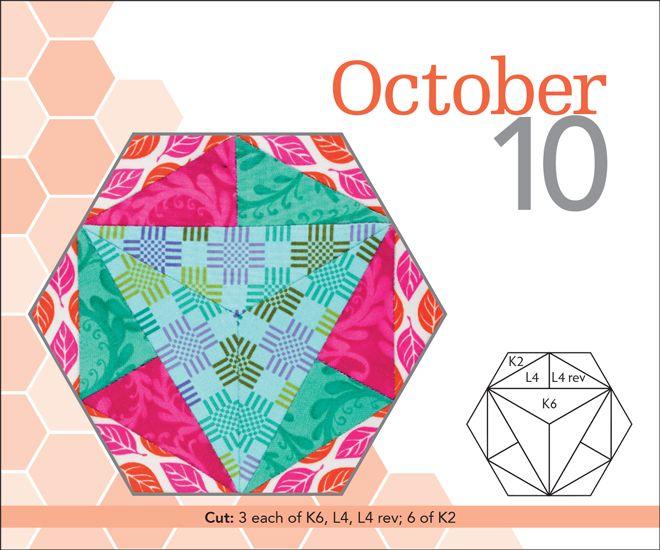 The New Hexagon Perpetual Calendar - 365 Blocks   hexagonos ...