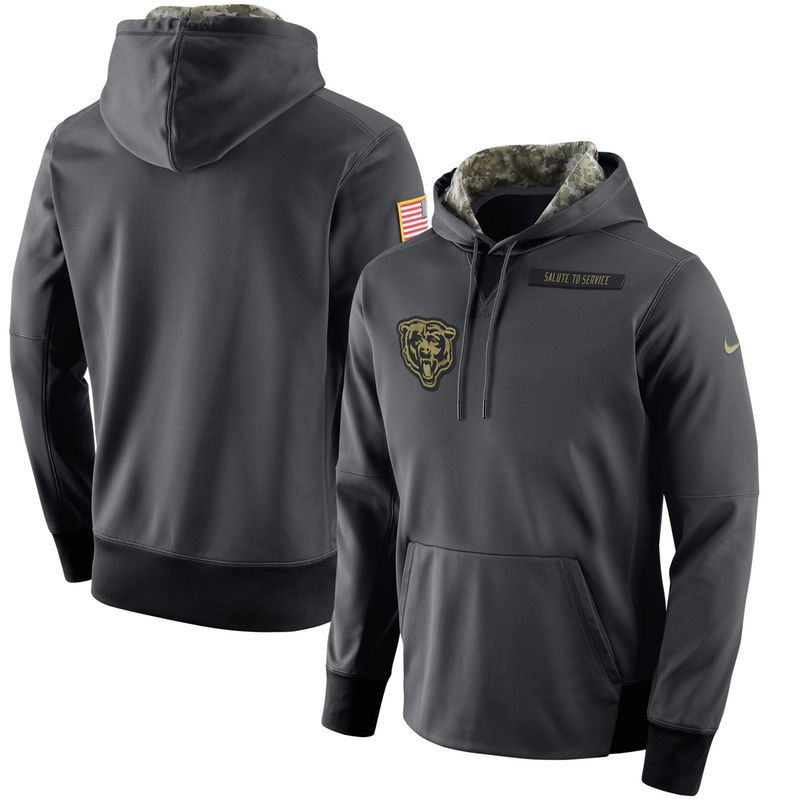 6c06a697c Chicago Bears Nike Salute to Service Player Performance Hoodie - Anthracite