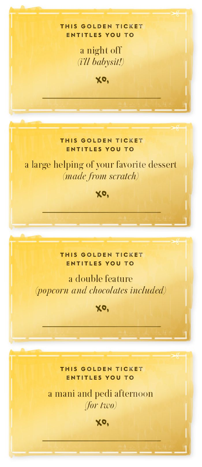 the golden ticket surprise your nearest and dearest with