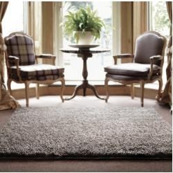 Photo of Dunleavy shaggy rug in gray wool