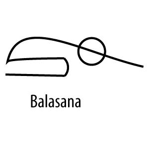 balasana  child's pose  yoga stick figures yoga logo