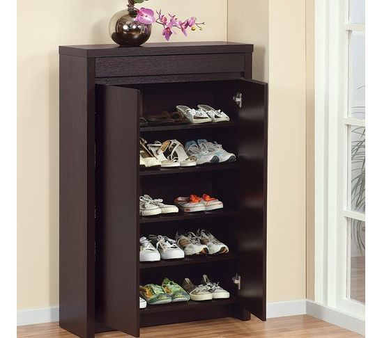 Front Door Shoe Storage Hides Shoes And Nice Height For