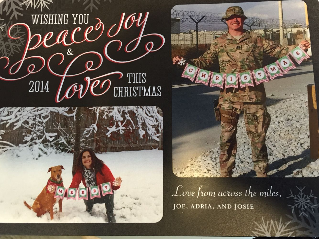 Our deployment Christmas cards were a big hit! Can't wait