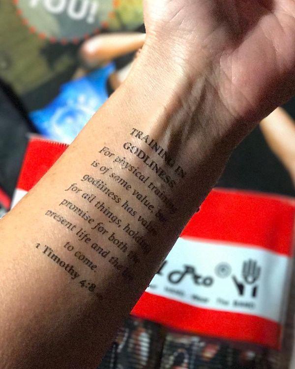 tatouage verset biblique | tatouages