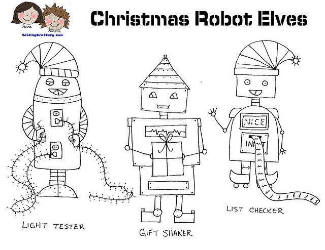 Christmas Robot Elves Patterns