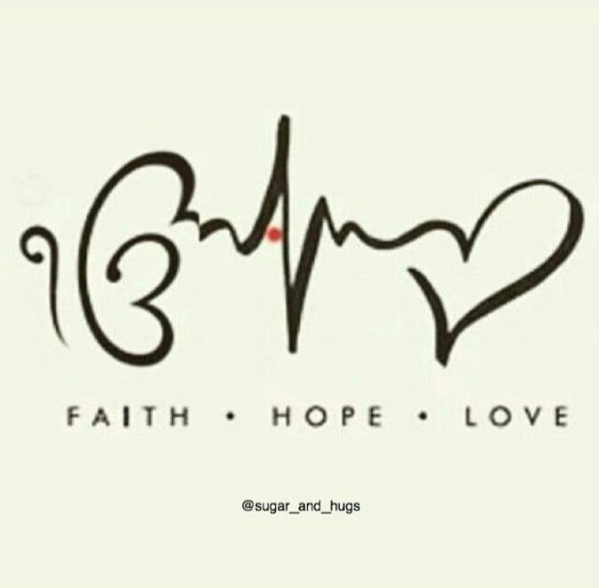 Tattoo- Faith Hope Love #necktattoosideas