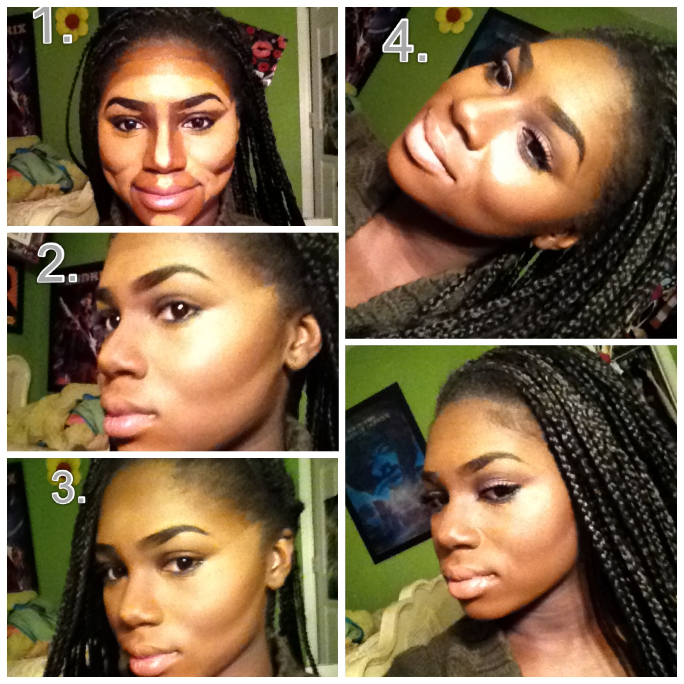 My steps to contouring and highlighting, I wish my camera quality ...
