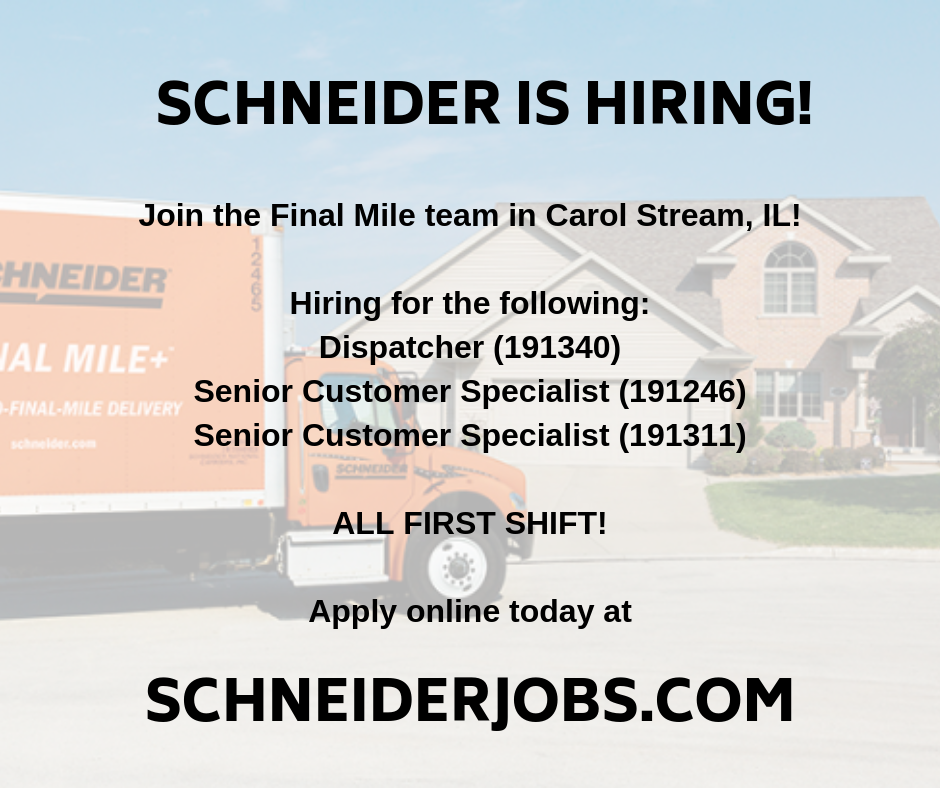 Check Out All The Awesome Roles We Are Hiring For In Carol Stream Il Job Office Job Technician