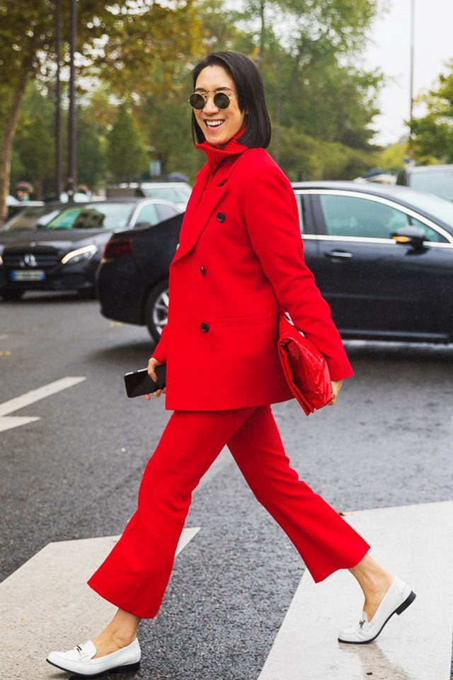 All Red Outfit Ideas For Dark Winter Days!   Cute shoes
