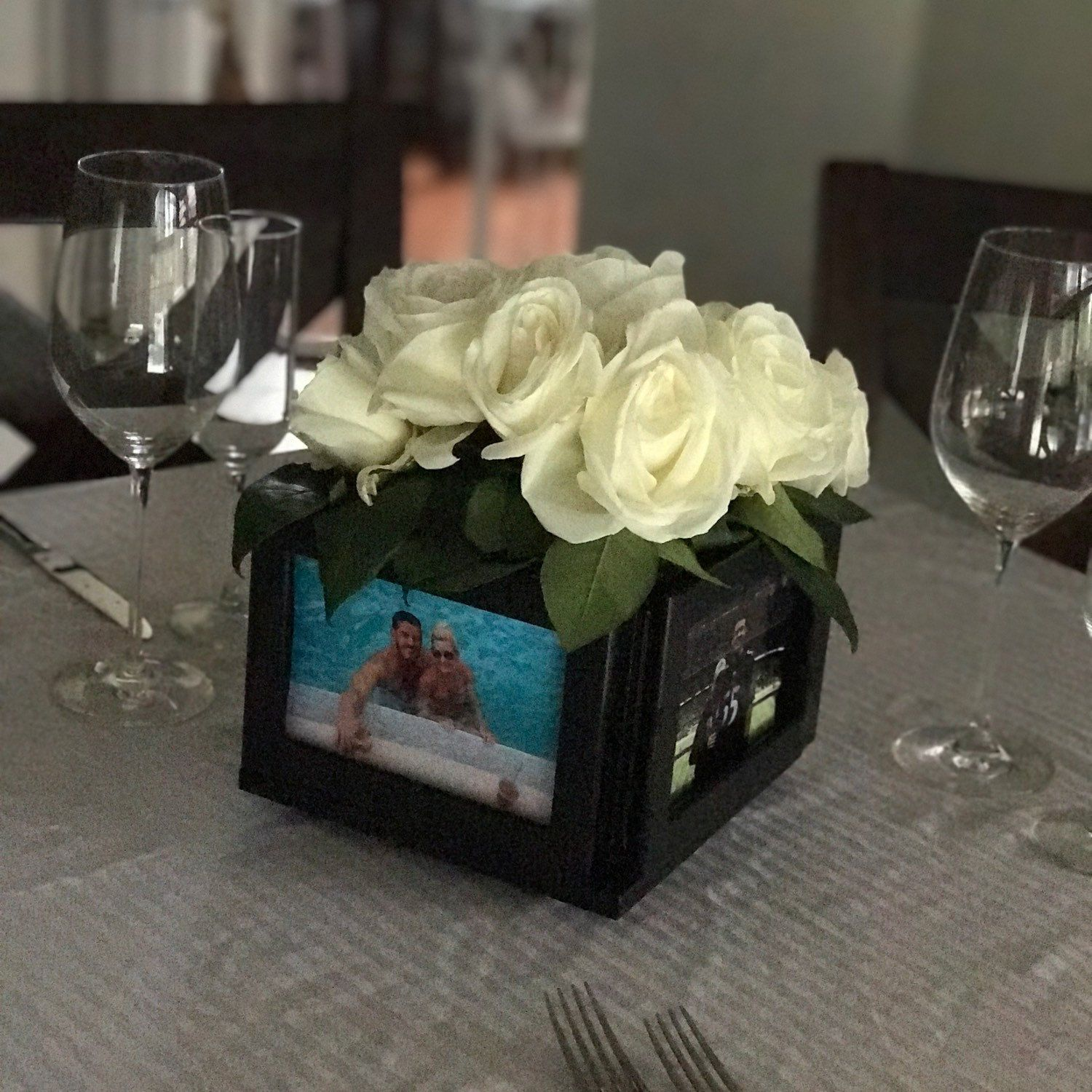 Picture frame centerpieces in black now available wedding picture frame centerpieces in black now available jeuxipadfo Choice Image