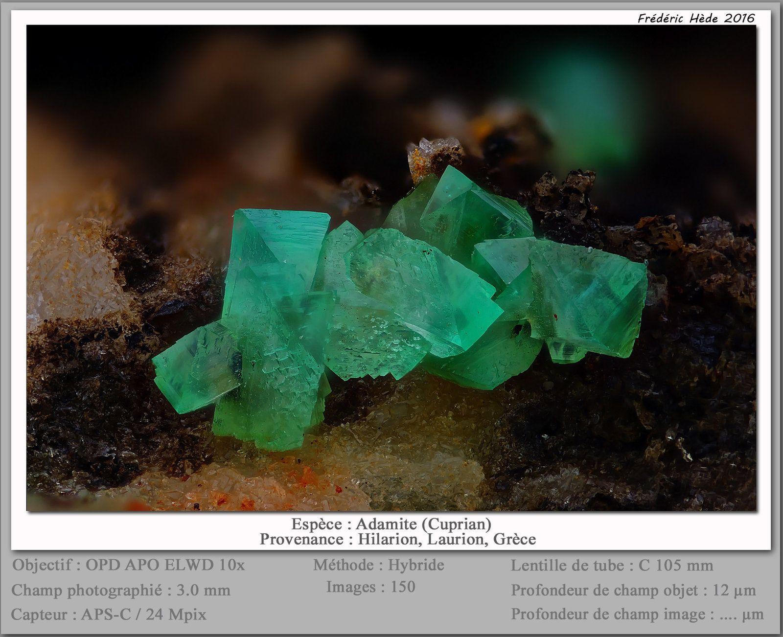 Adamite Variety Cuprian Adamite Hilarion Mine Hilarion Area