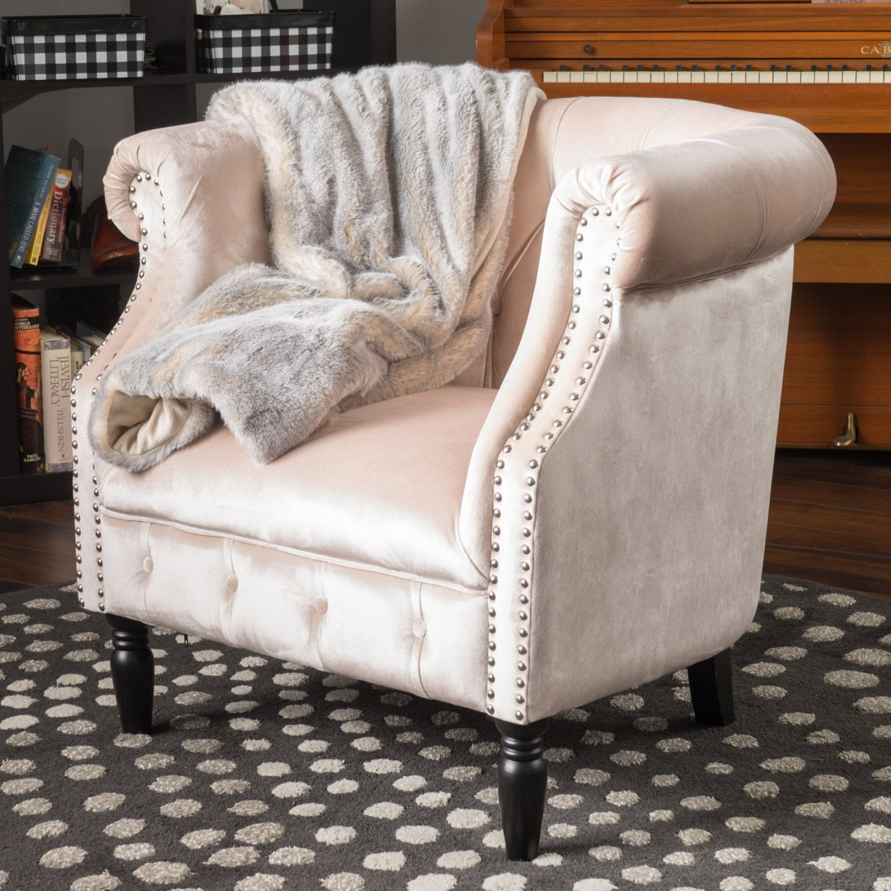 . Best Selling Home Akron Velvet Club Chair   300887   Products   Club