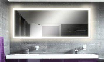 M08 Allev Badspiegel Mit Beleuchtung 100 Cm X 60 Cm Amazon De
