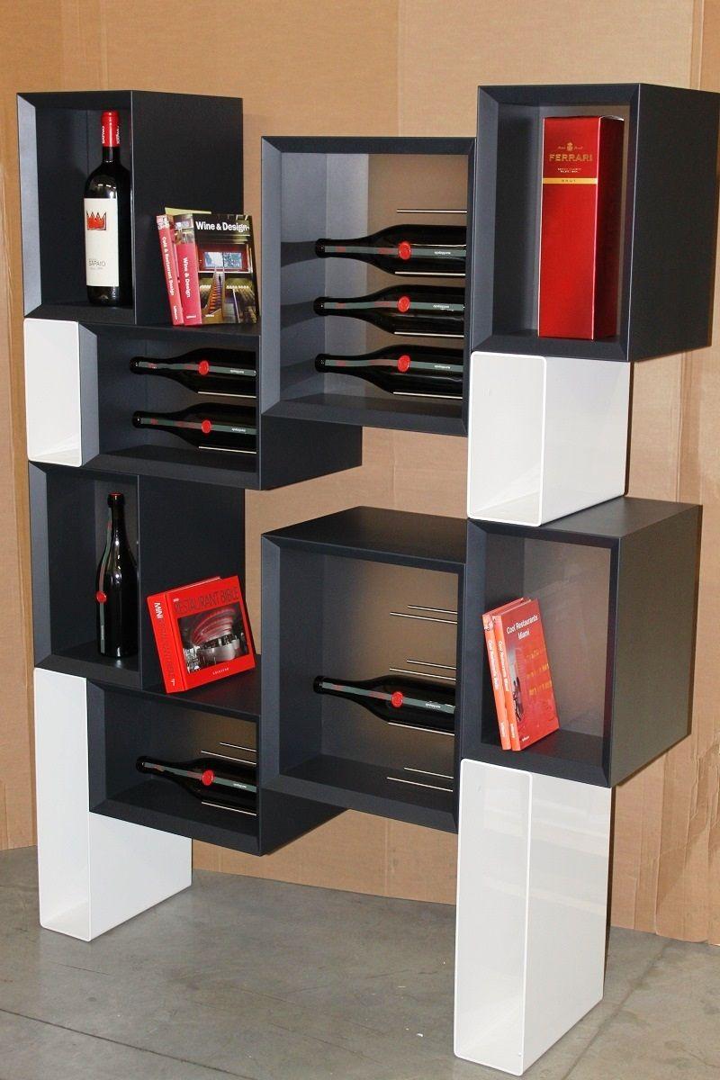 modern wine rack furniture. #Portabottiglie #vino Dal #design Moderno #Esigo 5 Floor - Modern #wine #bottles Rack Esigo For #winelovers Wine Furniture