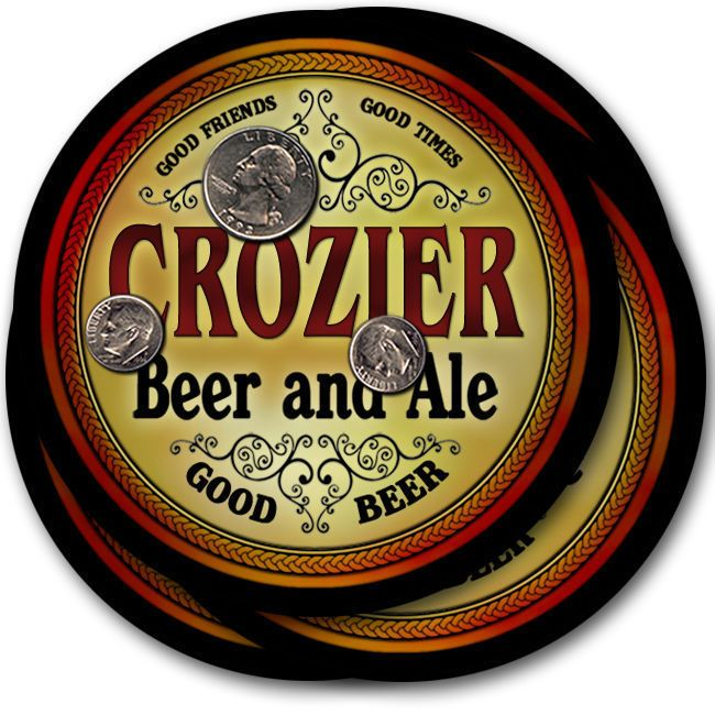 Crozier Beer and Ale Coasters - 4pak - Great Gift #Zuwee #HousewarmingWeddingBirthdayChristmas