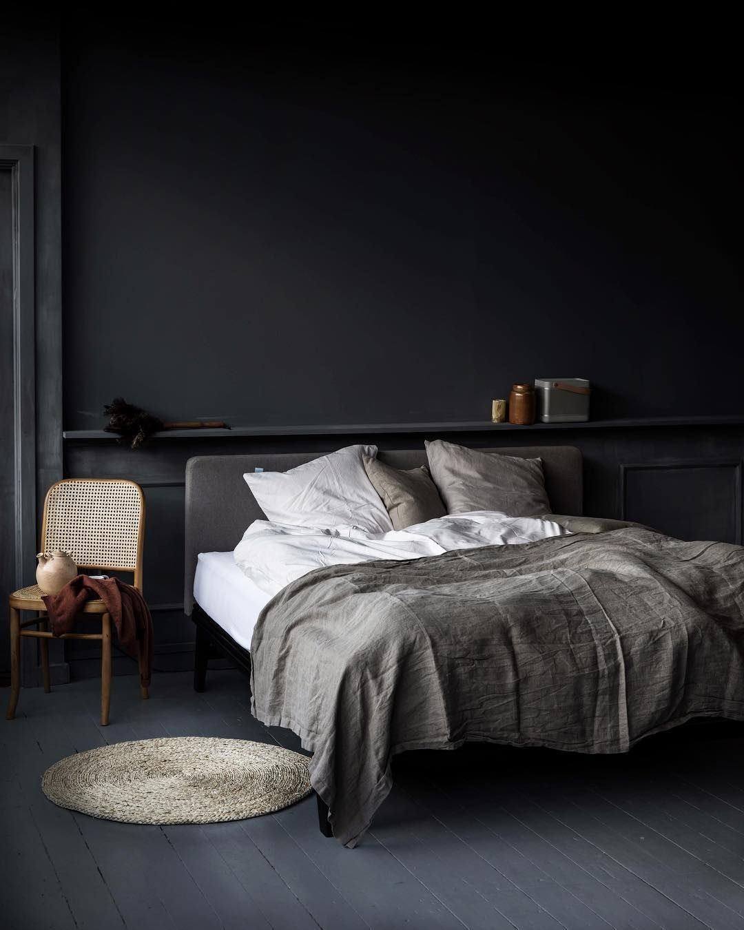 45 Dark And Moody Bedroom Decorating Ideas Homimu Com Moody Bedroom Modern Bedroom Interior Scandinavian Interior Bedroom