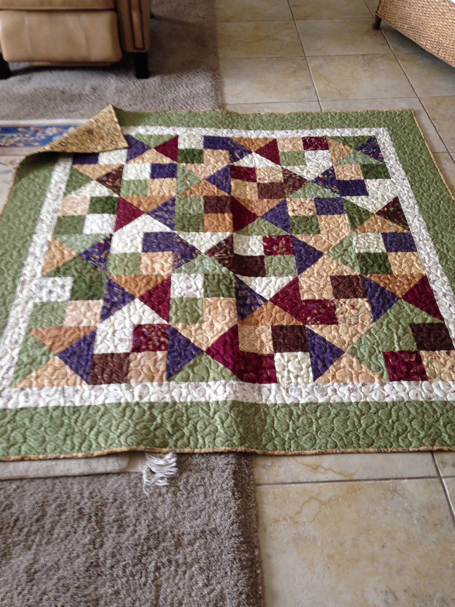 Alter ego pattern from Missouri Star Quilt Company....finished 2014