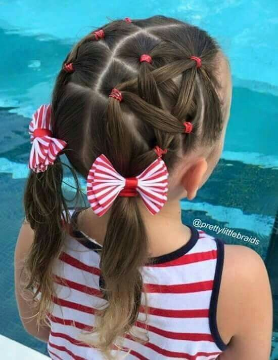 Maybe Next Fourth Of July With Images Little Girl Hairstyles Kids Hairstyles Girl Hairstyles
