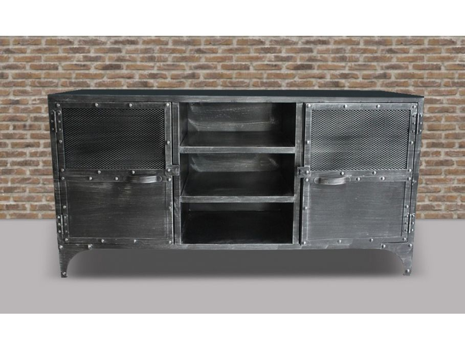 sideboard metall ruben 2 t ren g nstig kaufen m bel online shop kauf industrie. Black Bedroom Furniture Sets. Home Design Ideas