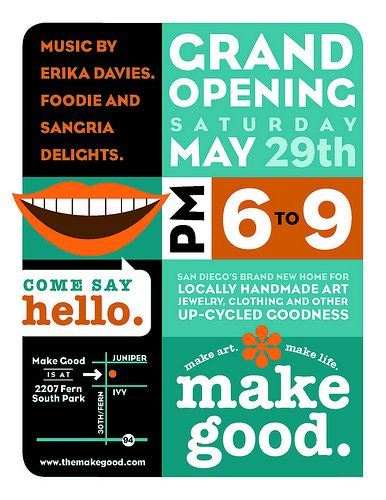 grand opening poster thrift store ideas pinterest flyer design