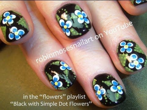 Easy Dot Flower Nails Nails Pinterest Flower Nails Robin
