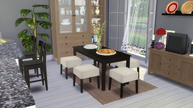 """Corporation """"SimsStroy"""": The Sims 4. IKEA Dining Room Furniture."""