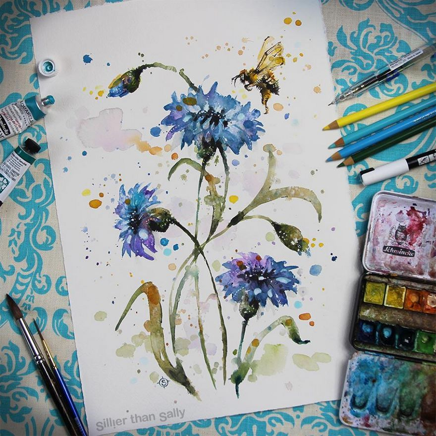 Colorful Watercolor Paintings Watercolor Paintings Painting