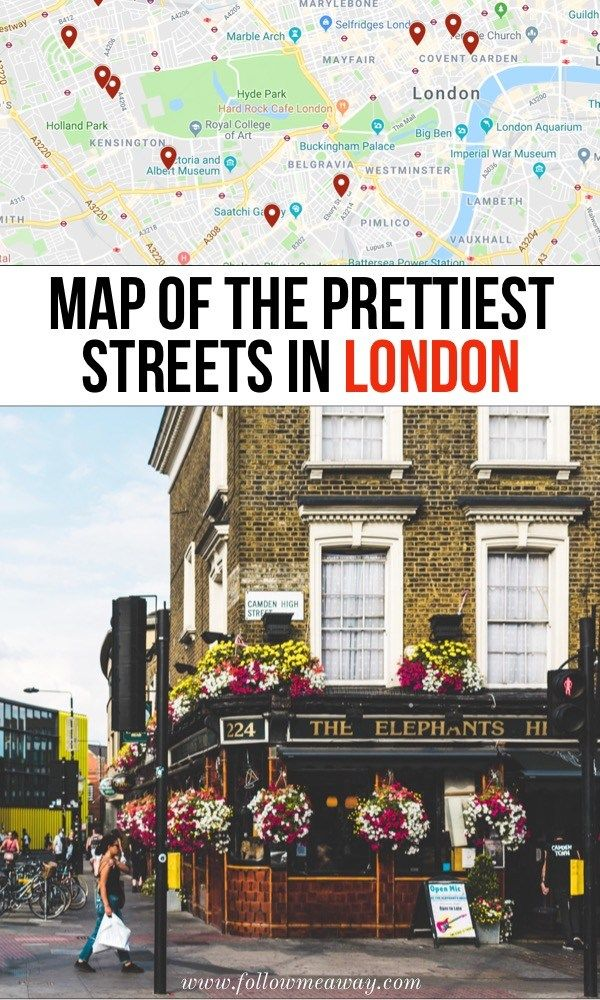 Map Of The Prettiest Streets In London | 10 Prettiest Streets In London | Best streets in london | London travel tips | best instagram locations in London | what to do in London on your first trip | hidden gems in London #london #londontravel #londonphotography