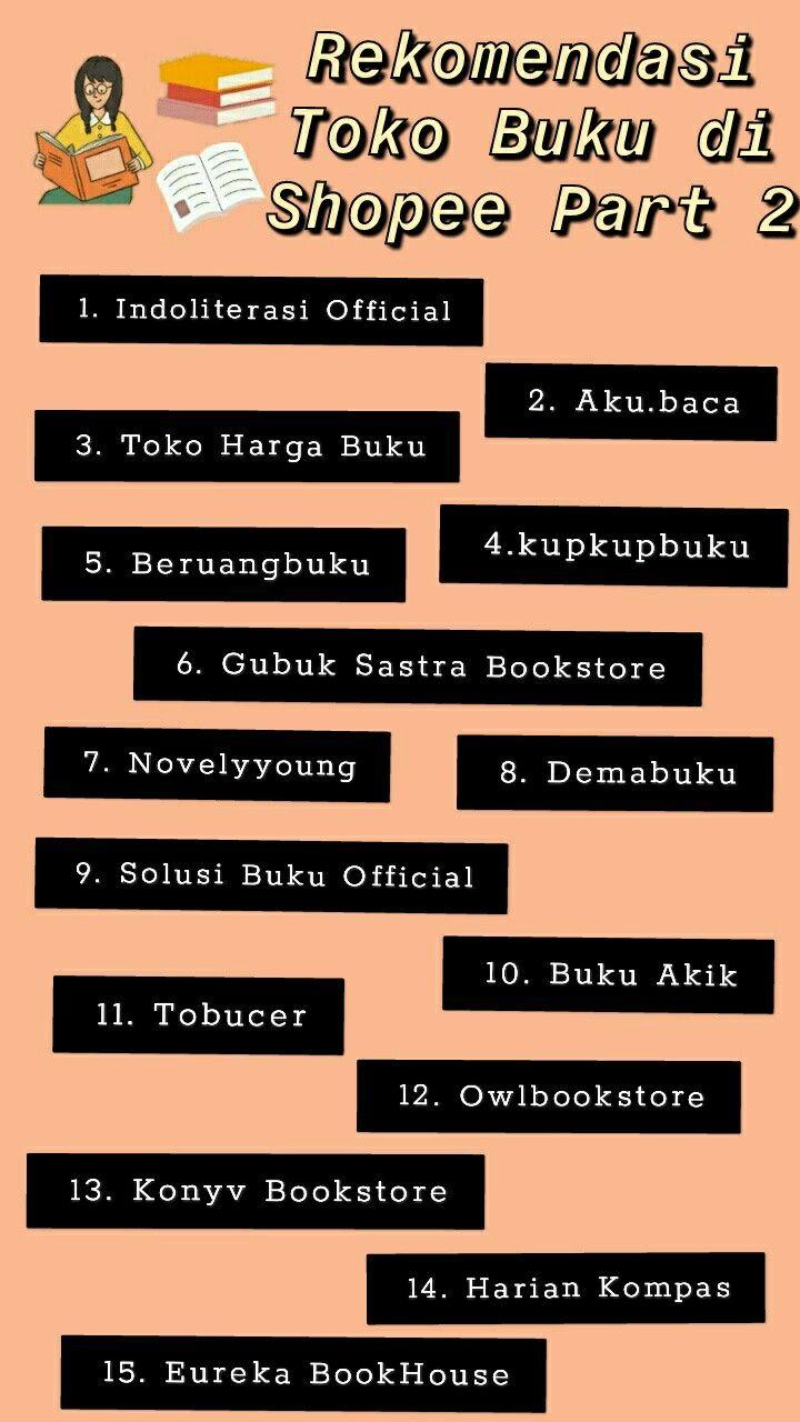 Rekomendasi toko buku di shopee di 2020 Buku, Toko buku