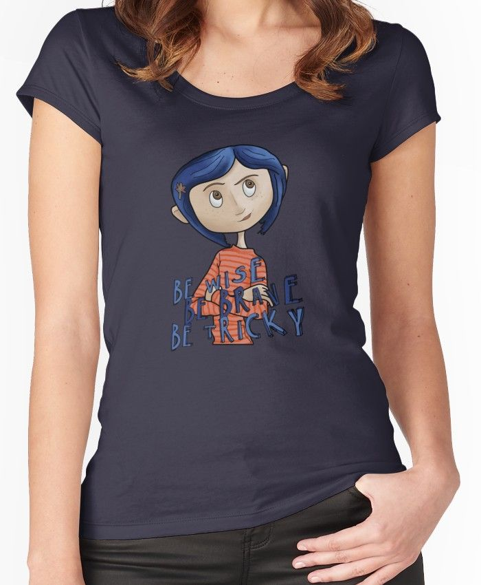 Coraline Fitted Scoop T Shirt By Portugalthegirl In 2020 Coraline Shirts T Shirt
