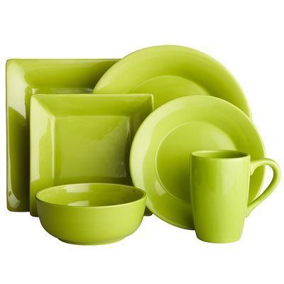 Essential Dinnerware - Lime from Pier 1 Imports. $34.00 for all 6 dishes. Like the lime green  sc 1 st  Pinterest & Essential Dinnerware - Lime from Pier 1 Imports. $34.00 for all 6 ...