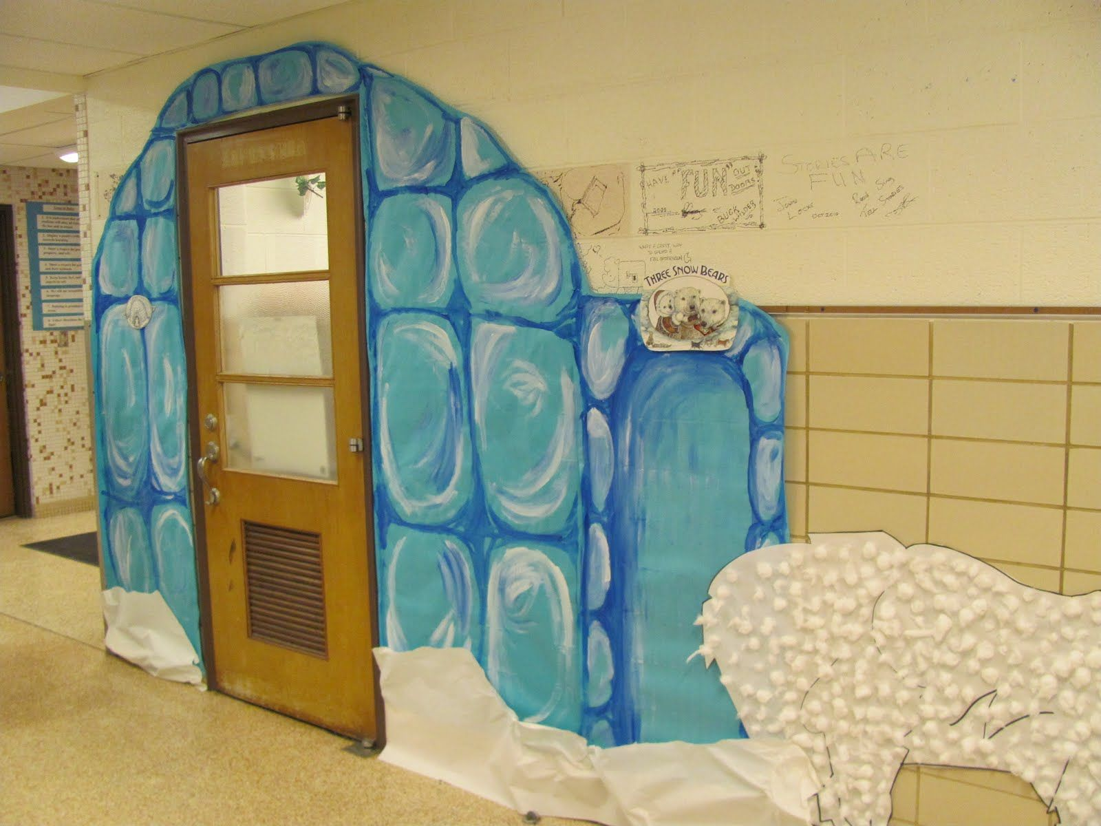 Doors Everest B An Artist School Everest Vbs Classroom Winter Theme