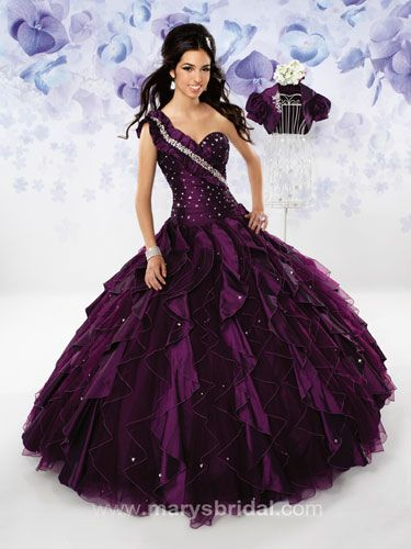 Purple Quinceanera Dresses - Pictures of Purple and White ...