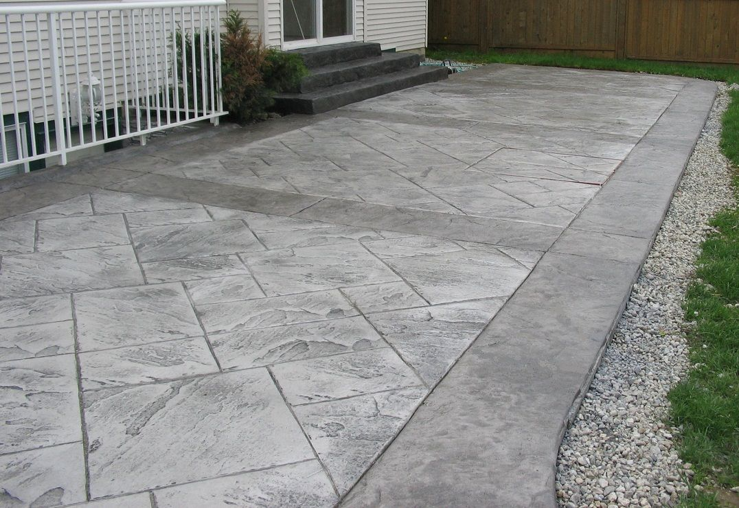 Stamped Cement Patios Austin Concrete Connection