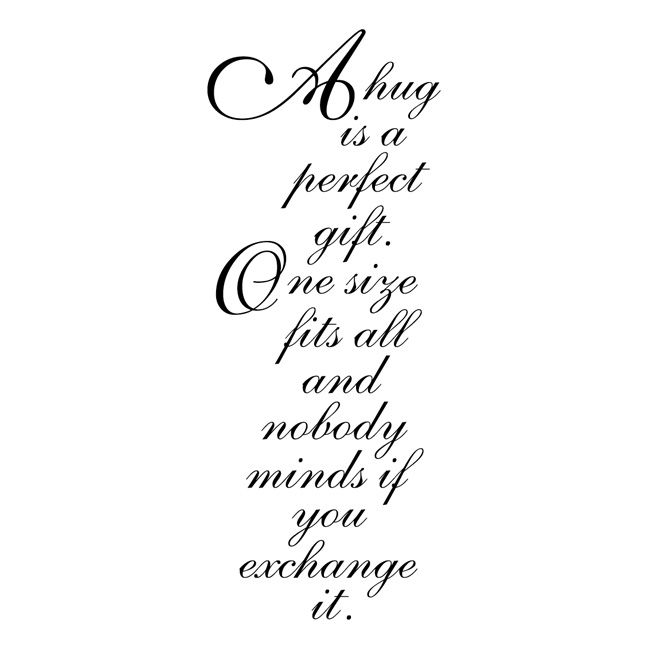Penny Black Rubber Stamp 2 X3 75 Perfect Gift Quotes Good