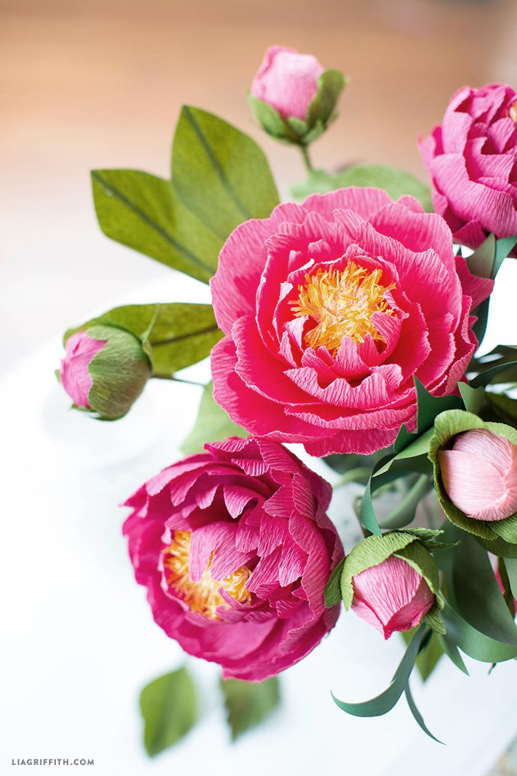 Craft A Bouquet Of Gorgeous Heavy Crepe Paper Peonies Crate