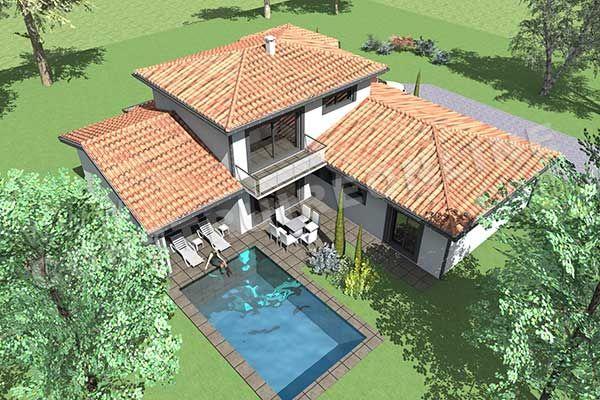 plan de maison moderne etage LISBON 3 1 maison plan Pinterest