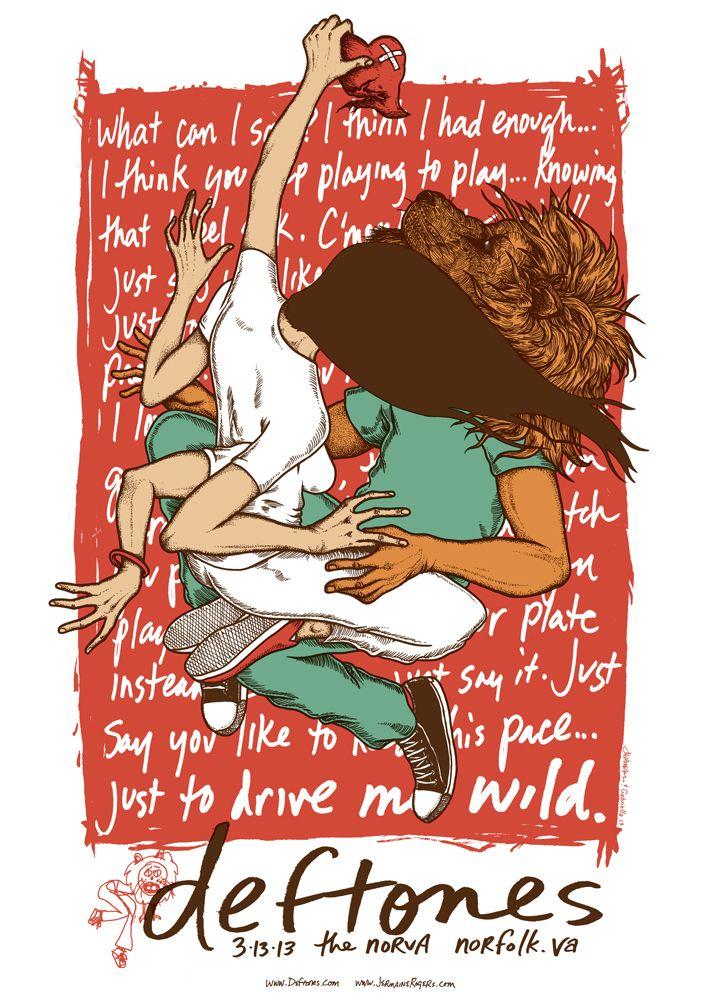 Deftones concert poster, by Jermaine Rogers
