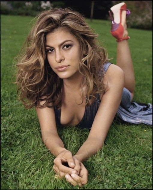 Eva Mendes hair color/style & natural makeup. Love the ...