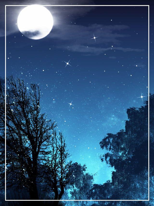 Star Night Sky Background Woods Pintura Do Ceu Pintura De Ceu Noturno Bailarina Para Colorir