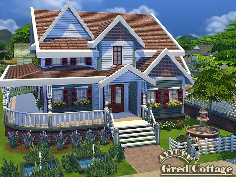 Ayyuff S Gred Cottage Sims House Sims 4 House Design Sims House Plans
