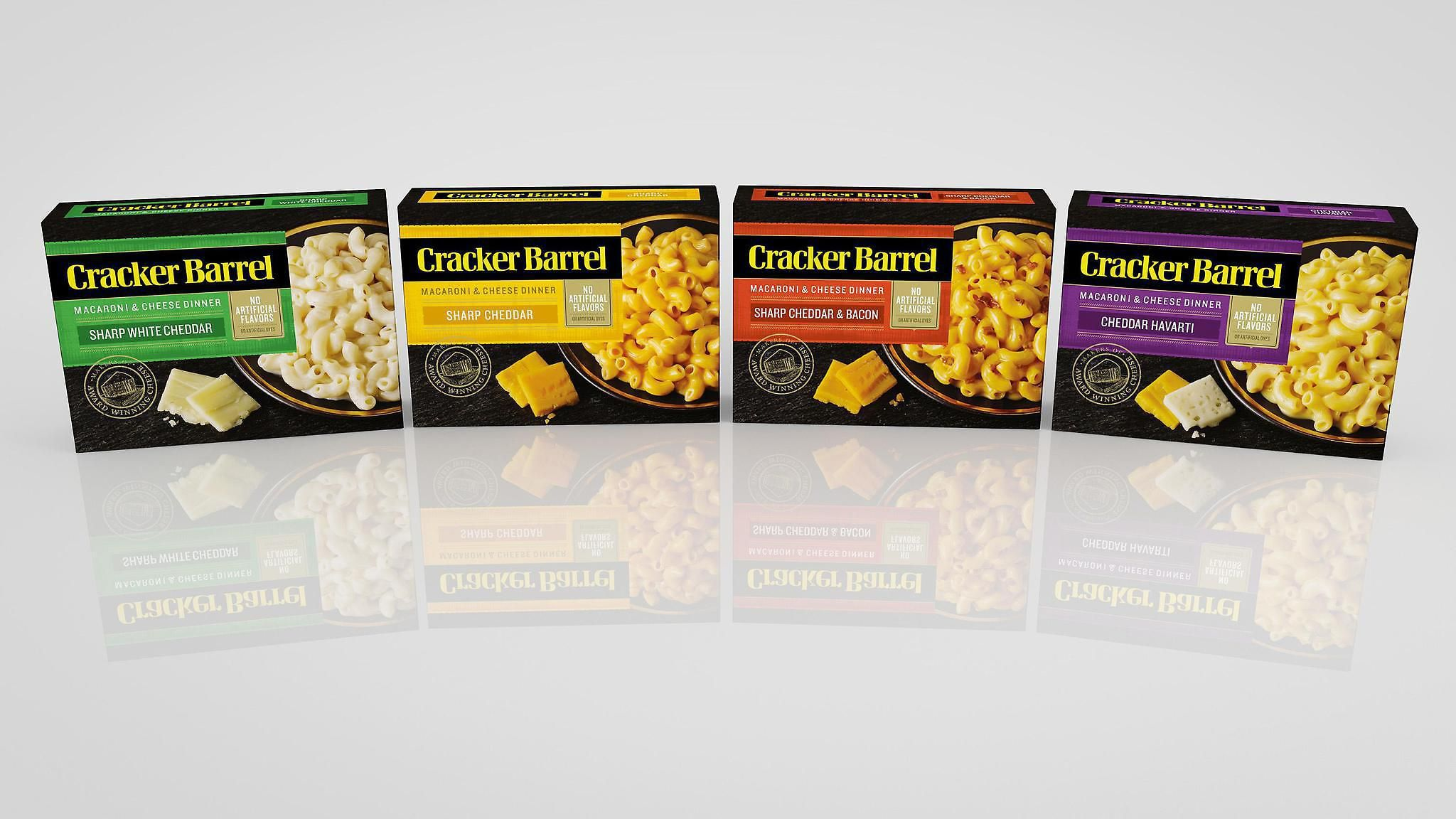 Cracker Barrel Cheese introduced four of its own mac 'n' cheese flavors.