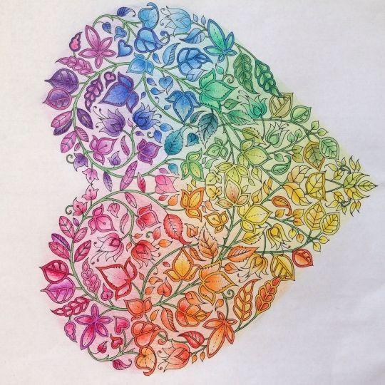 Johanna Basford - Secret Garden - valentine's heart