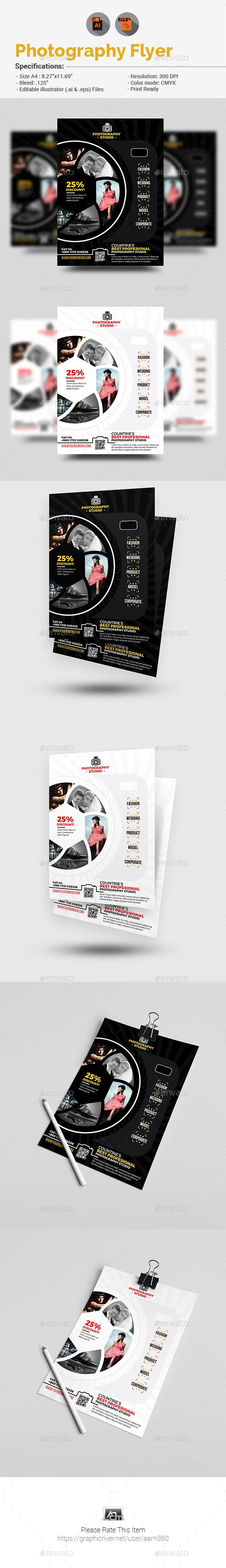 Photography Flyer — Vector Eps #wedding #leaflet • Available Here → Https:/