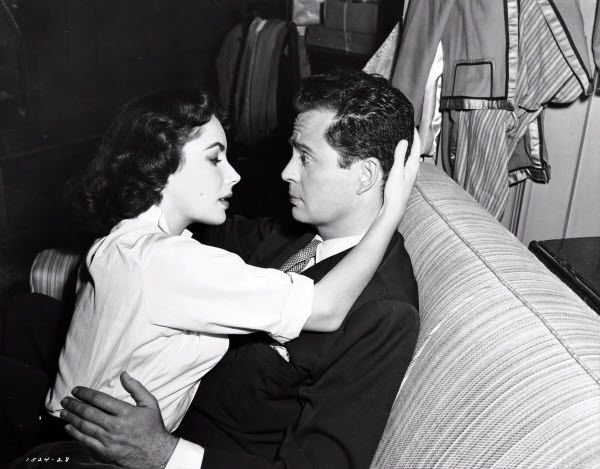 Elizabeth Taylor and Larry Parks - 'Love is Better Than Ever', (1952).