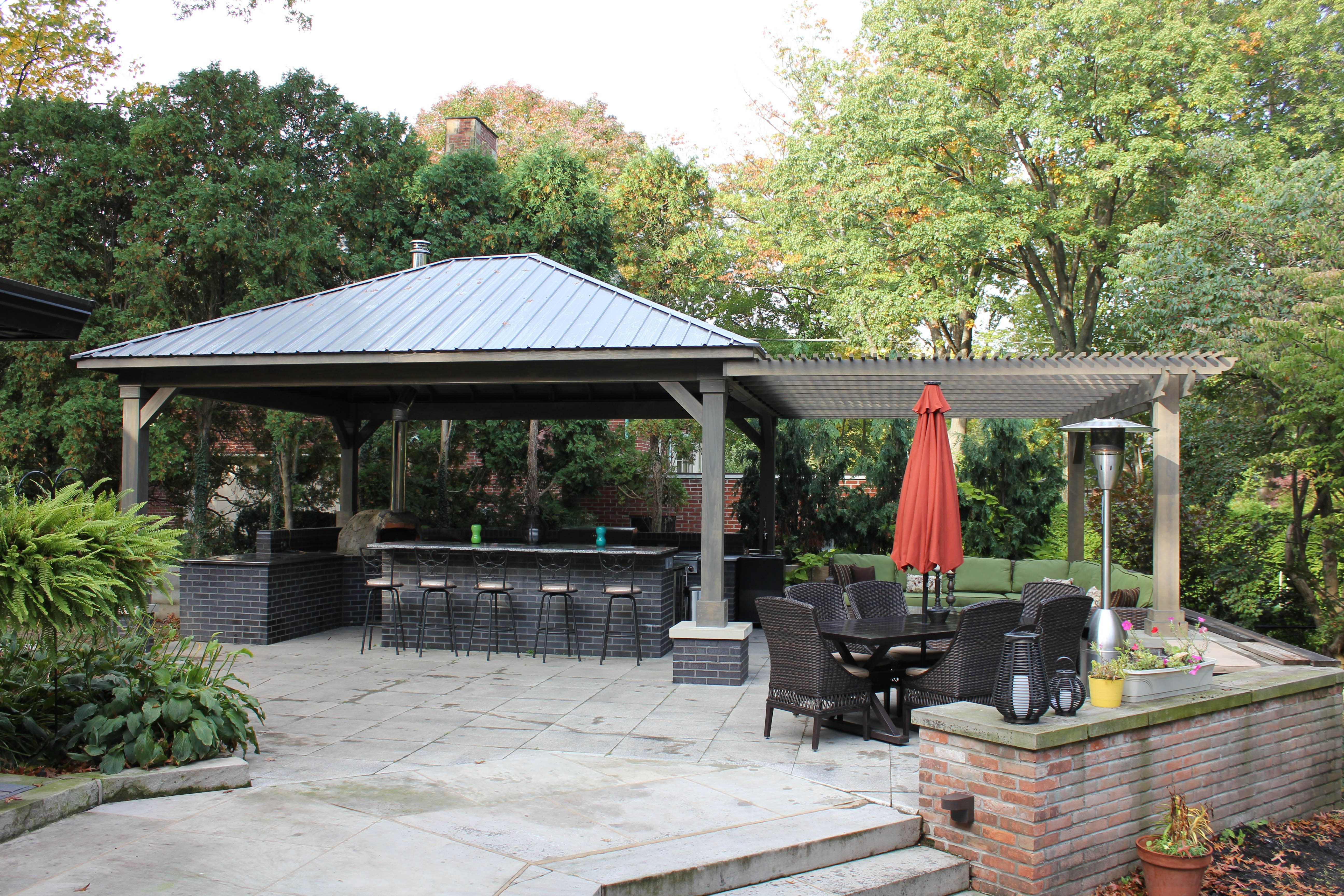 Another Custom Durango Pavilion From Berlin Gardens Combined With A BG  Pergola Makes This Backyard A
