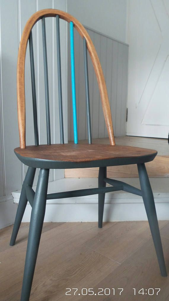 Vintage Ercol 1960 Quaker Chair Refurbished Painted Retro