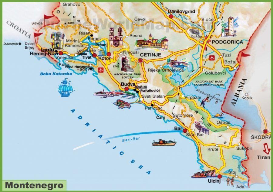 Kotor Montenegro Travel Guide Montenegro Map Montenegro Travel