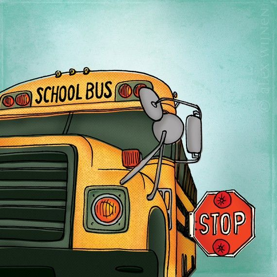 School Bus Print 25 My Little Peanut Would Love This Cartoon